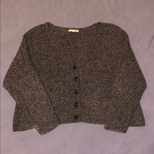 AE cropped button up sweater